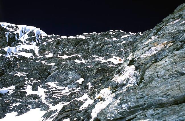 Наш лагерь на 7450, вид с вершинной башни