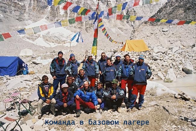 Команда в Базовом лагере