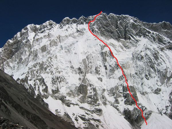 "пик Нупцзе Восточная по Южному склону (East Nupse, 7703m, Непал). Маршрут ""Лунная соната"""