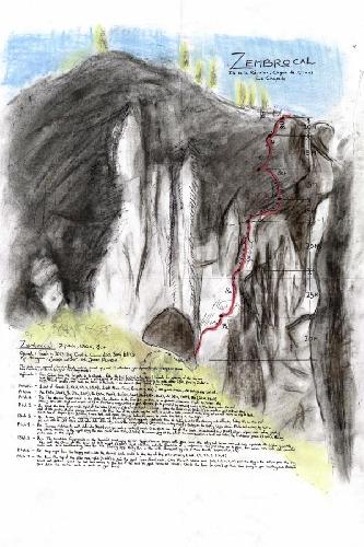 "маршрут ""Zembrocal"" (140м, 8с+)"