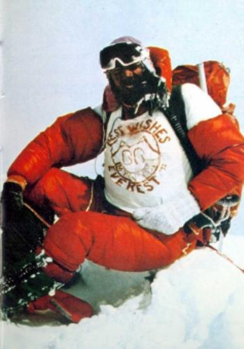 Питер Бордмен на вершине Эвереста