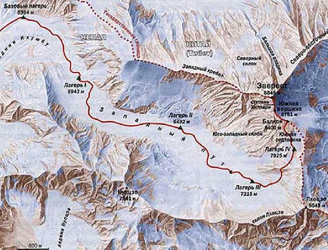 Эверест. Стандартный маршрут восхождения