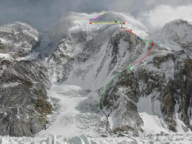 Маршрут на вершину Броуд-Пик из базового лагеря