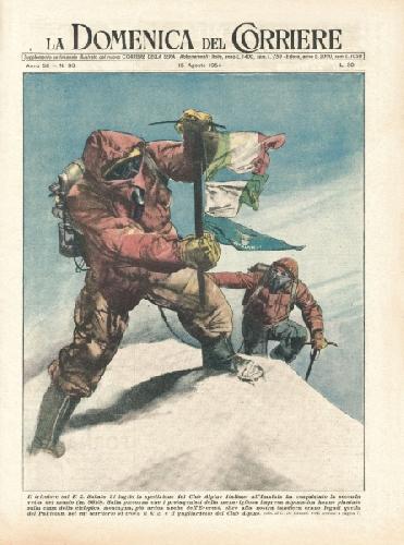 На вершині К2. 1954 рік. Обкладинка журналу, присвячена першосходженню на вершину