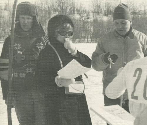 В Туристе (февраль 1972) – Володя, Эля и П.П.Захаров