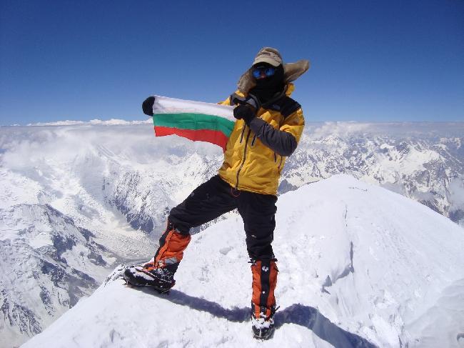 Боян Петров (Boyan Petrov) на восьмитысячнике Гашербрум