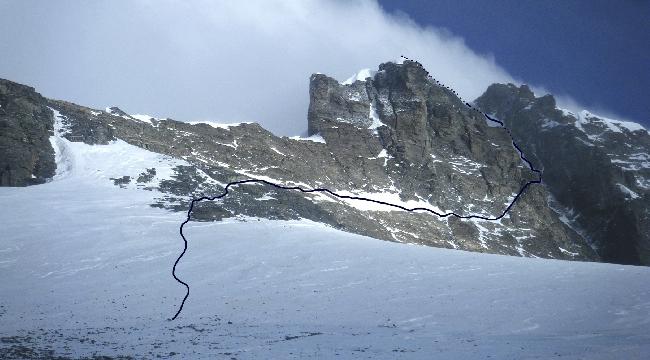 Северо-Западная стена (Lhotse North-West Face Route). Маршрут Дениса Урубко. Предвершинный участок