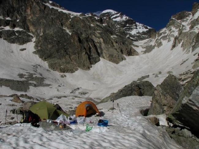 Лагерь на подходе к Тетнульду