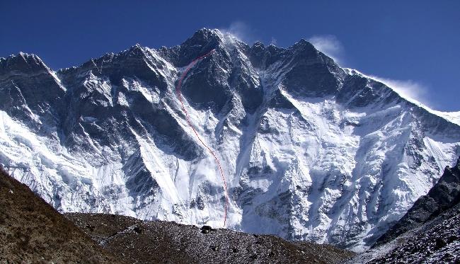 Лхоцзе, Южная стена (South Face Lhotse). Маршрут Югославской экспедиции 1981 года
