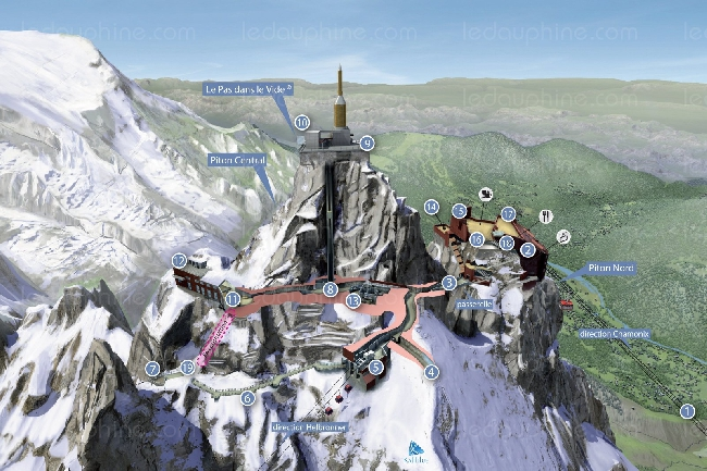 пик Эгюий дю Миди (Aiguille du midi , 3842 м). Проекты будущих лет