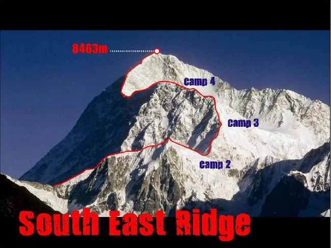 Макалу. Возможный маршрут восхождения по Юго-Восточному ребру (Makalu via the South East Ridge)