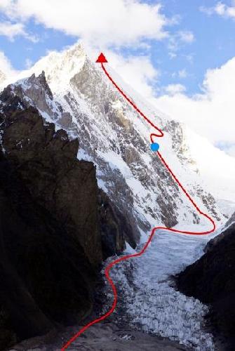 Юго-Восточная стена пика Гашербрум V (Gasherbrum V, 7147 м). Маршрут восхождения корейской команды
