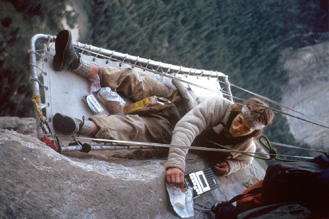 Билл Вестби (Bill Westbay) на маршруте Zodiac (A2 5.7), 1977 год