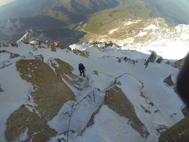Вышли с ночевок 4800 м к вершине