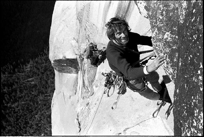 Уоррен Хардинг (Warren Harding) на маршруте Dawn Wall, 1970 год