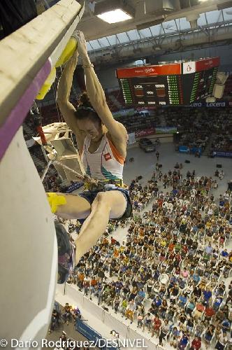 Джейн Ким на финале Чемпионата Мира по скалолазанию 2014 года