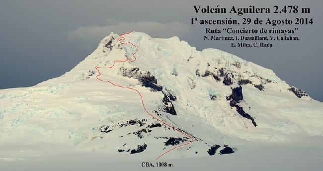 маршрут «Concierto de Rimayas» на вершину вулкана Агилера (Volcan Aguilera)