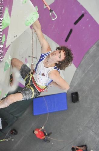 Адам Ондра в финале Чемпионата Мира по скалолазанию 2014 года