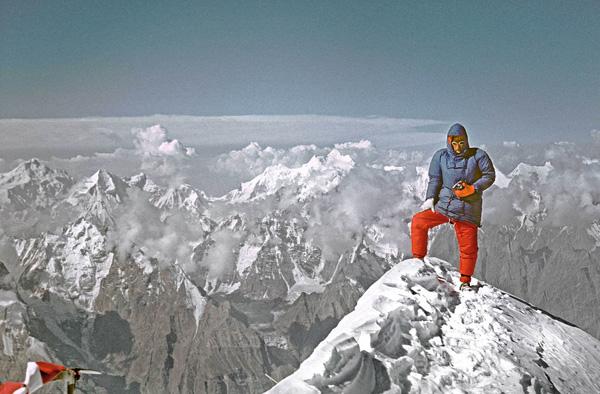 Анджей Завада на вершине Куньянг Чичиш (Kunyang Chhish)