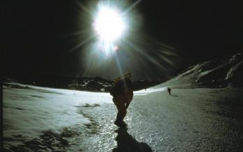 На австралийском маршруте на Эверест. октябрь 1984 года, кулуар Нортона