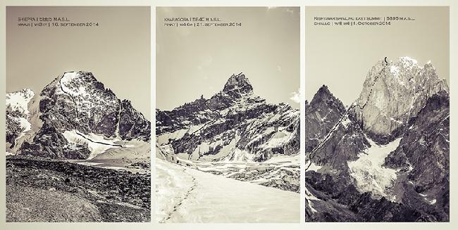Пройденные маршруты: Maaji (на вершину Пик Шипра (peaks Shiepra), Pinky (на вершину Карагоса (Kharagosa) и  Challo на вершину Киштвар Шивлинг (Kishtwar Shivling)