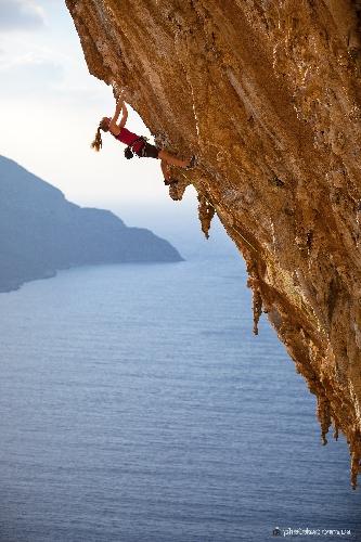 Елена Шурубор на фестивале  Kalymnos Climbing Festival 2014