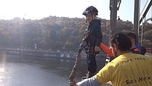 Пятилетний мальчик совершит прыжок с киевского моста ради рекорда Украины