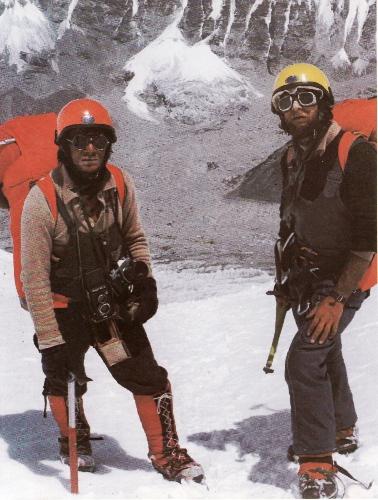 Ежи Кукучка (Jerzy Kukuczka) и Анджей Чок (Andrzej Czok) на Эвересте в 1980 году