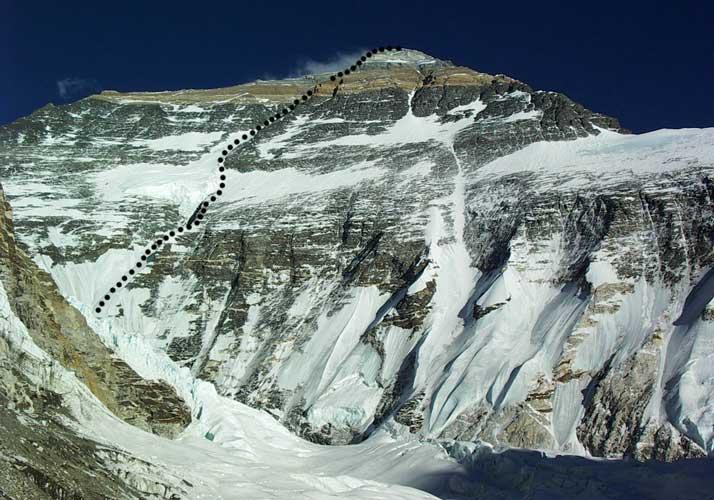"маршрут ""White Limbo"" по Северному кулуару (северная стена – кулуар Нортона)"