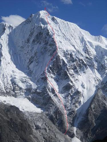 Маршрут черкасских альпинистов к вершине Лангшиса Ри (Langshisa Ri) высотой 6427 м пройденный 22 октября 2014 года