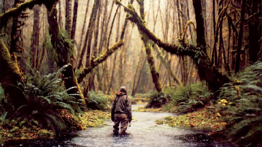 Рыбак Дженни Гроссенбахер пробирается вглубь полуострова Олимпик в штате Вашингтон, США. (Фото: Энди Андерсон)