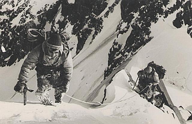 Зима 1960 г. Северо- Восточный гребень  п. Комсомола. Маршрут 5-а