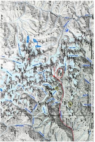Картосхема района восхождения