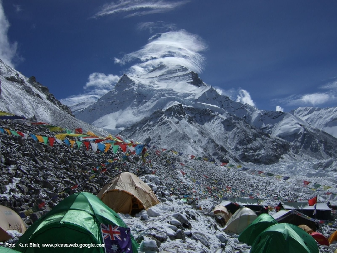 Чо-Ойю (Cho Oyu, 8201 м), вид с передового базового лагеря