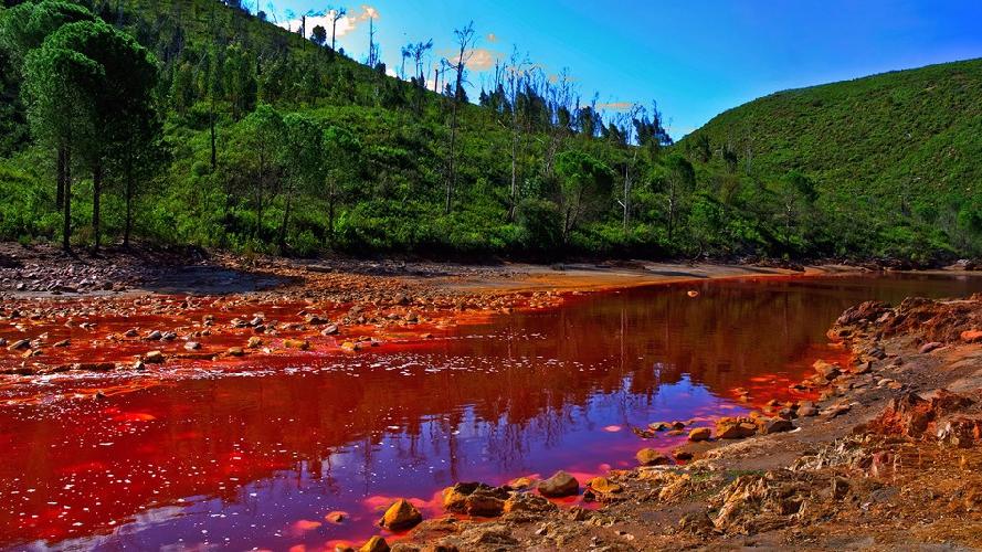 Вода в испанской реке Рио Тинто имеет повышенную кислотность. Причем настолько, что может сравниться с нашим желудочным соком. Этого более чем достаточно, чтобы убить любую рыбу, которая в ней окажется, как, впрочем, и человека. Такое уникальное свойство появилось у реки благодаря бактериям и железу, которое растворялось в воде долгие годы. Похожие феномены были обнаружены на Марсе, так что Рио Тинто, возможно, может помочь ученым в исследование красной планеты.