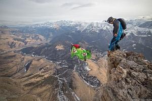 Прыжок с самой южной точки России - горы Ерыдаг