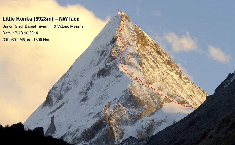 Маршрут на вершину Маленькая Конка (Little Konka) высотой 5928 метров