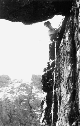 Мачей Попко (Maciej Popko) при восхождении диретиссимы на вершину Mniszka в Татрах