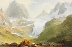 Каспар Вольф (Caspar Wolf); ледник «Нижний Гриндельвальдский глетчер» («Unterer Grindelwaldgletscher») и удар молнии, примерно в 1775 г. Каспар Вольф (Caspar Wolf); ледник «Нижний Гриндельвальдский глетчер» («Unterer Grindelwaldgletscher») и удар молнии, примерно в 1775 г.   Панорама с вершины Бенизегг (Bänisegg) и взгляд на «Нижний Гриндельвальдский глетчер»; 1778 г. Панорама с вершины Бенизегг (Bänisegg) и взгляд на «Нижний Гриндельвальдский глетчер»; 1778 г.   Южный выход из ущелья Далашлухт (Dala-Schlucht). Южный выход из ущелья Далашлухт (Dala-Schlucht).   «Пещера Дракона» недалеко от города Станс (Stans). «Пещера Дракона» недалеко от города Станс (Stans).   Долина Гадменталь (Gadmental) с вершинами Титлис (Titlis), ледником Венденглетчер (Wendengletscher), горами Грассен (Grassen) и Фюнффингерштёкен (Fünffingerstöcken); 1778 г. Долина Гадменталь (Gadmental) с вершинами Титлис (Titlis), ледником Венденглетчер (Wendengletscher), горами Грассен (Grassen) и Фюнффингерштёкен (Fünffingerstöcken); 1778 г.