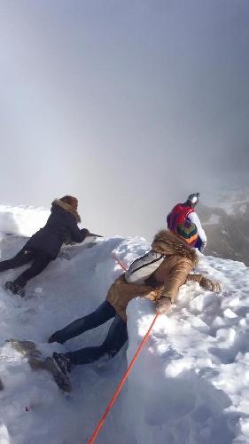 судя по фотографии из социальной сети, юбилей был встречен на любимом крыле во время прыжка в Шамони