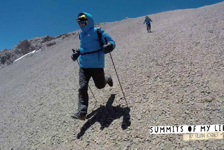 Килиан Джорнет (Kilian Jornet Burgada) в рекордном восхождении на Аконкагуа 23 декабря 2014 года