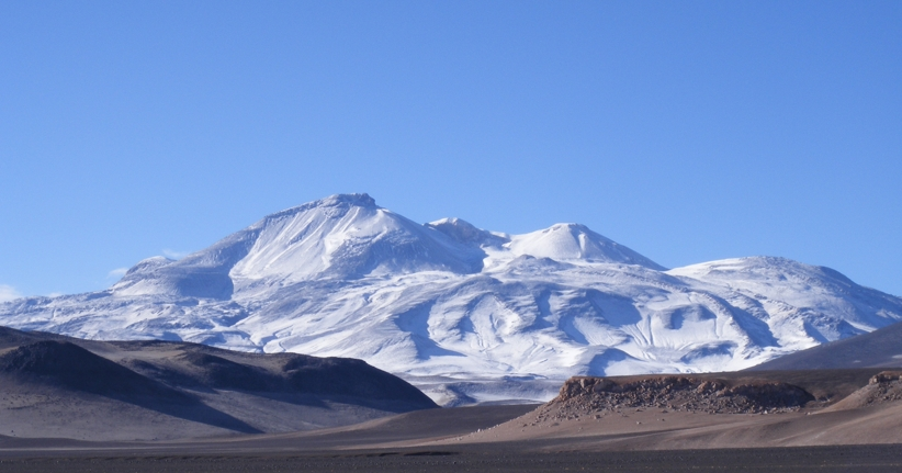 Охос-дель-Саладо (Ojos del Salado) - высочайший вулкан мира и вторая по высоте гора в Южной Америке