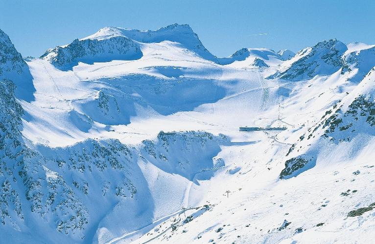Склон ледника Реттенбах на курорте Зёльден