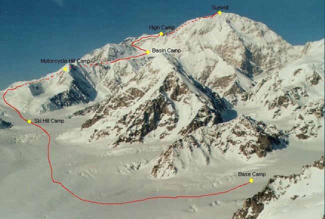 Мак-Кинли (Денали, 6194м). Стандартный маршрут восхождения