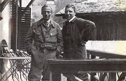 Пол Пройс с одним из своих товарищей по альпинизму