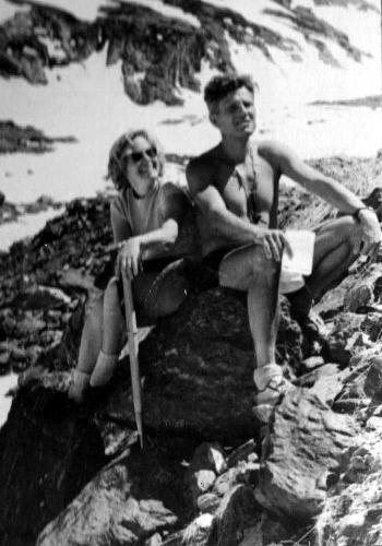 1961. Попова и Мартынов И.А. на Кавказе