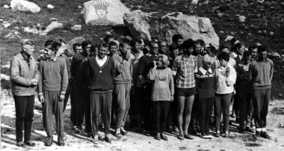 1968. Инструктора альплагеря «Безенги»