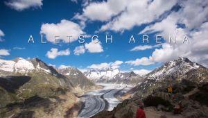 Ледник Алеч: День и ночь (ВИДЕО)