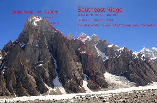 Маршрут восхождения на пик Бадал (Badal Peak, 6100 метров)