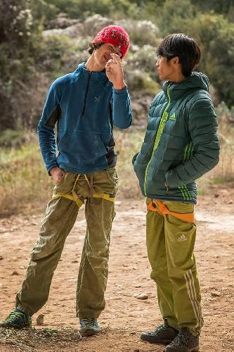 Сачи Амма (Sachi Amma) и Адам Ондра в Олиане. февраль 2015 года